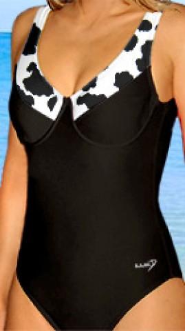 7a572ff6c97 Dámské jednodílné plavky s kosticemi RAMI P601v velikost M